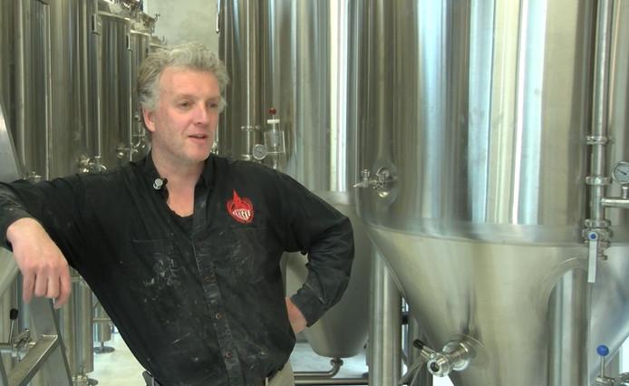 Oscar Moerman in zijn nieuwe brouwerij