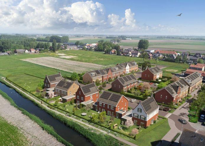 De huizen in de wijk De Akkerranden gaan online in de verkoop.