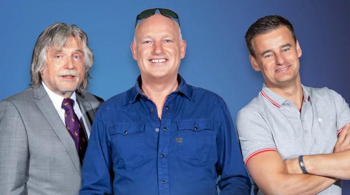 Johan Derksen, René van der Gijp en Wilfred Genee.