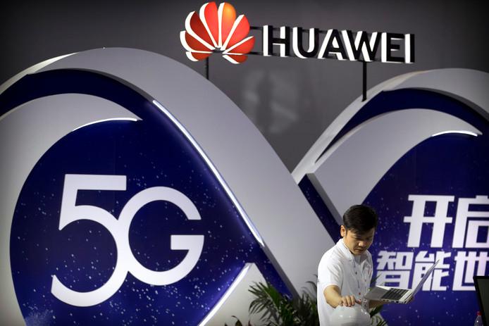 Reclame voor 5G-technologie afgelopen september in Peking