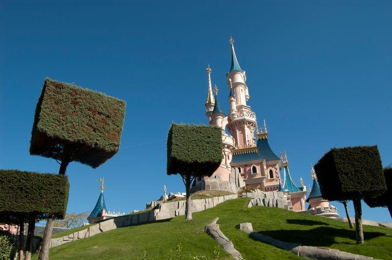 Het kasteel van Doornroosje in Disneyland Parijs