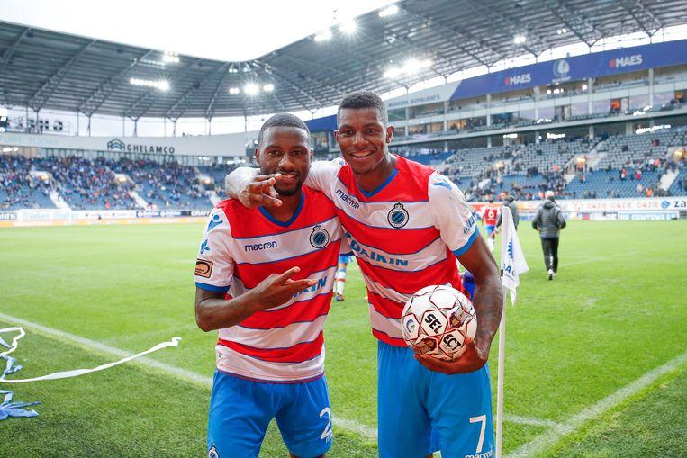 Denswil zondag met Wesley na de 0-4 in Gent.
