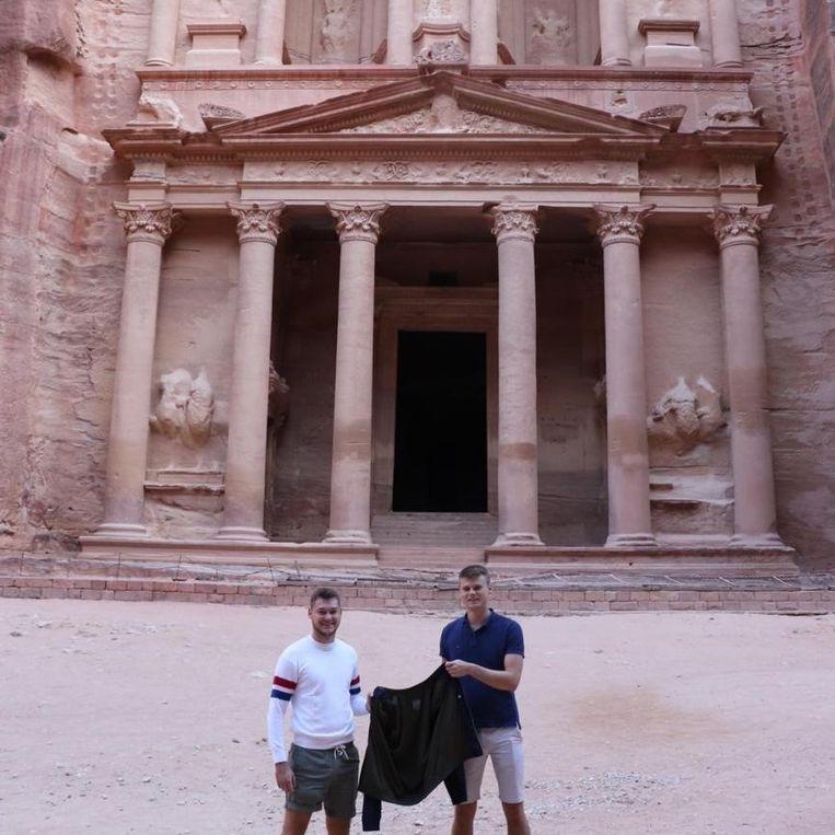 De stad Petra in Jordanië