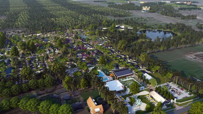 Bovenaanzicht van Resort Kaatsheuvel