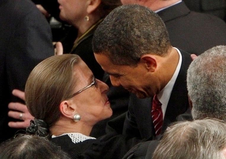 Met Obama in 2009. Beeld REUTERS