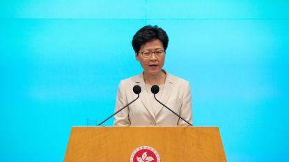 Regeringsleider Hongkong verontschuldigt zich voor uitleveringswet