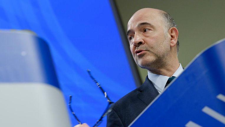 De toezichthoudende Franse EU-commissaris Pierre Moscovici. Beeld epa