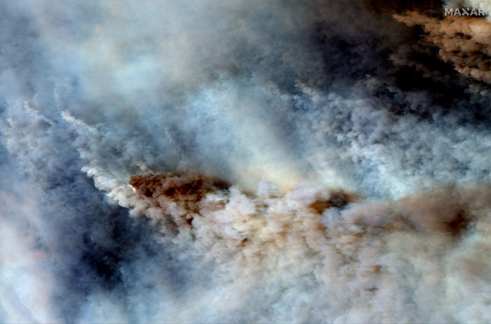 Bosbranden bij Orbost in East Gippsland.