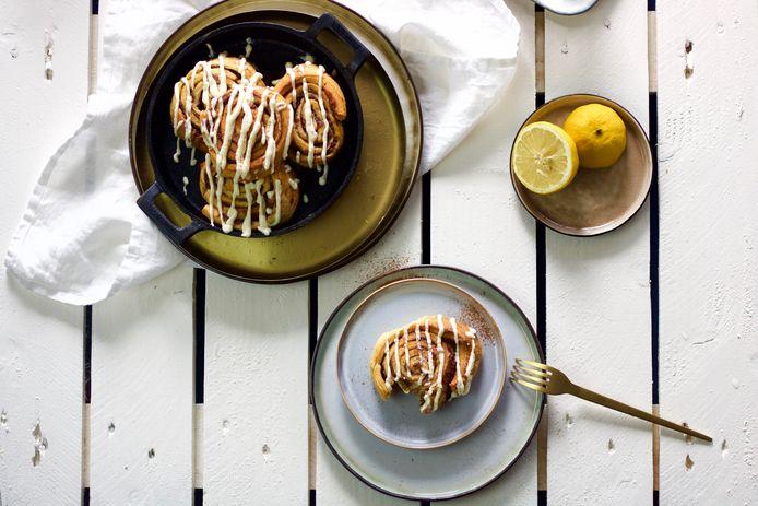 Snelle cinnamon rolls met banaan