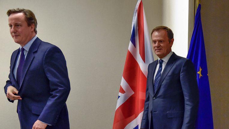 David Cameron en Donald Tusk Beeld epa