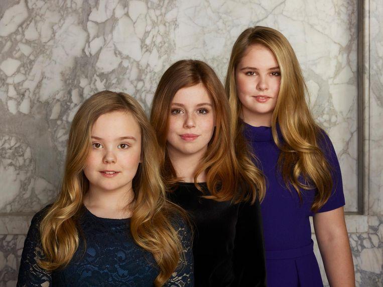 v.l.n.r. Prinses Ariane, Prinses Alexia en Prinses Amalia. Beeld Rijksvoorlichtingsdienst