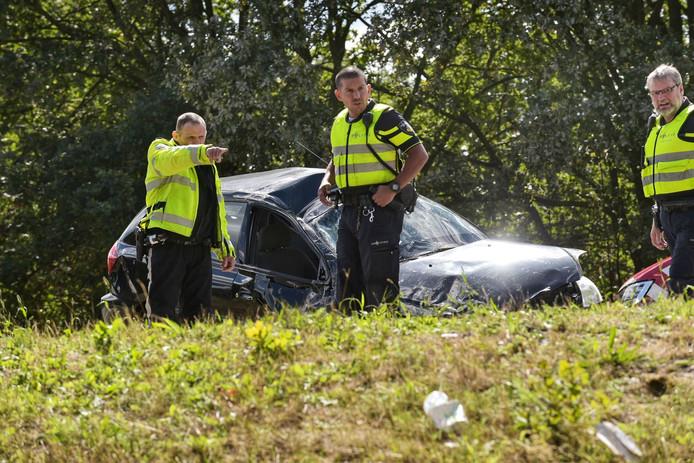 Ongeval op de A58 bij Sint Willebrord