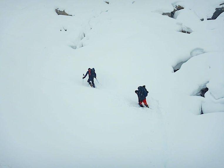 Een van de allerlaatste foto's van de klimmers. Hij werd vrijdag gepost.