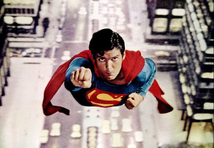 Christopher Reeve als Superman.