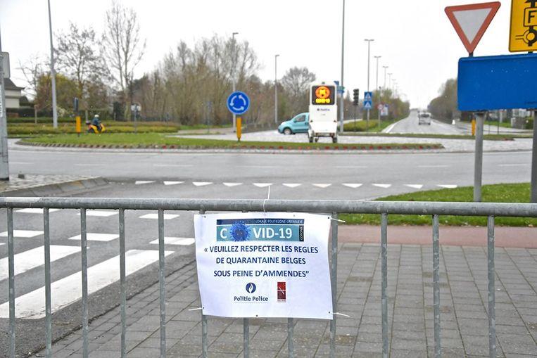 De Fransen worden ook via een briefje gevraagd om België niet binnen te rijden