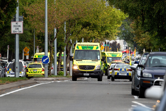 Ambulances rijden af en aan in Christchurch