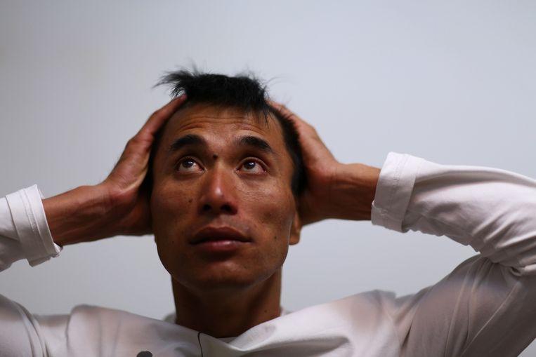 Wu Changlong zat jarenlang vast. Beeld Zhang Yujie