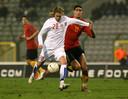 Zijn allereerste7 februari 2007. België verliest met 0-2 van Tsjechië, Fellaini speelt bij zijn debuut meteen 90 minuten.
