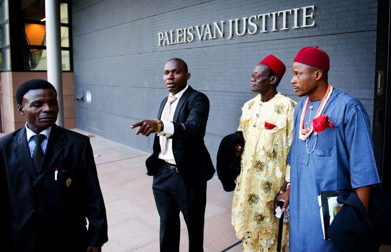 Nigeriaanse boeren vorg jaar bij de rechtbank Beeld ANP