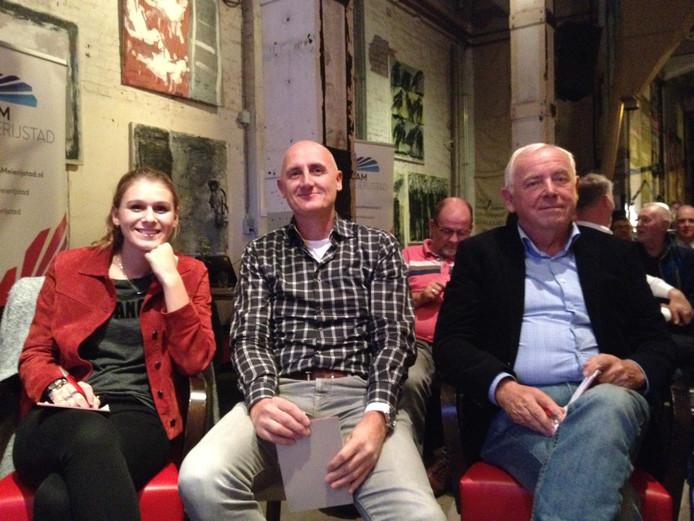 De publieksjury met vlnr: Britt Verhagen, Gert-Jan Kanters en Romano van der Meijden.