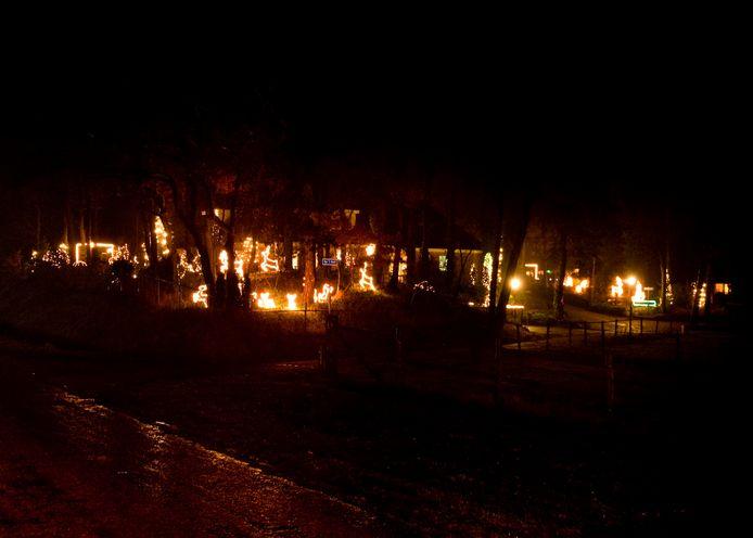 Met lichtjes in tuinen en vensterbanken willen de Veerenaren de duistere dagen vol corona-beperkingen opvrolijken.