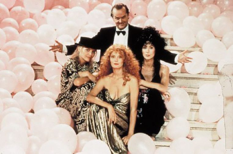 In 1987 tijdens de opnames van Witches of Eastwick.