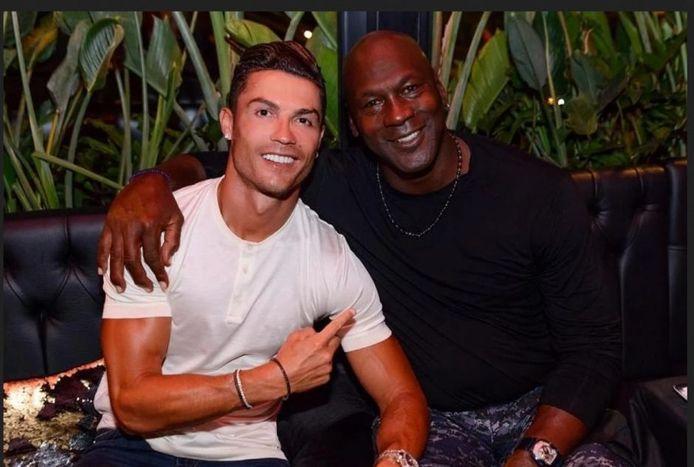 Cristiano Ronaldo en Michael Jordan.