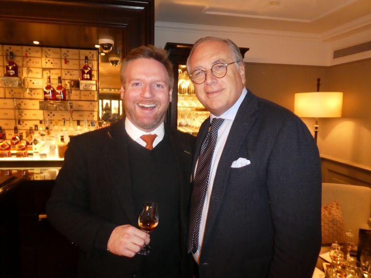 Daryl Haldane (Dalmore) en Waldorf Astoria-directeur Roberto Payer, geen whiskydrinker.