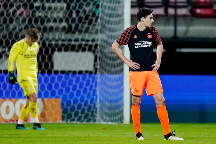 Maxime Soulas baalt na het doelpunt van NEC.