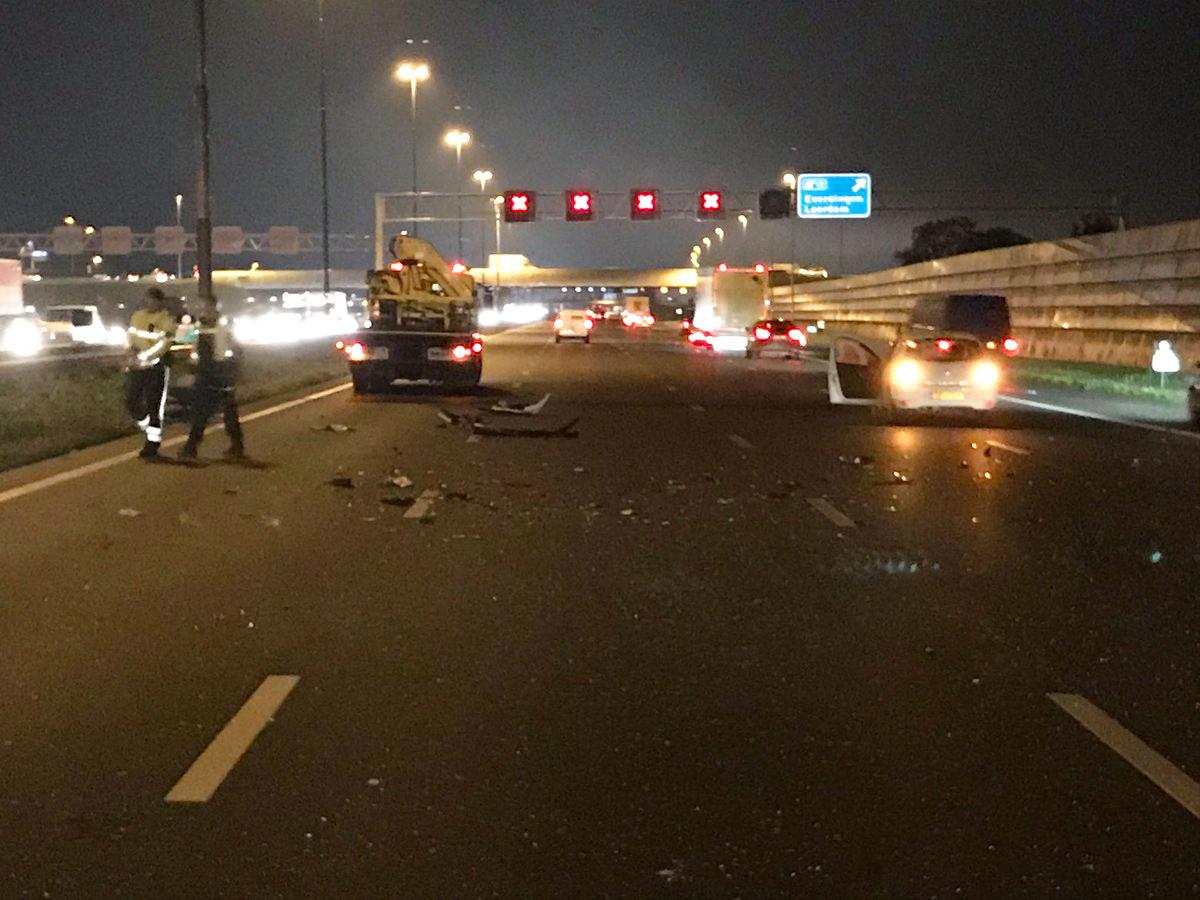 Ongeval op de A2 bij Leerdam, van Utrecht naar Den Bosch.
