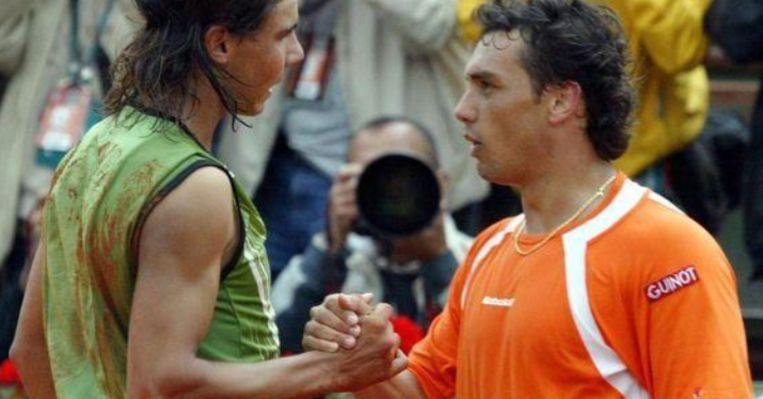 Rafael Nadal en Mariano Puerta.