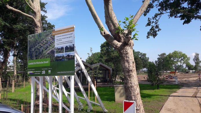 De entree van het toekomstige Landal Greenpark in Eck en Wiel