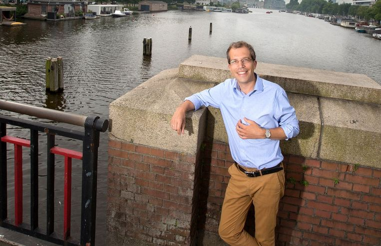 Tim Vreugdenhil, dominee van de City Kerk in Amsterdam: 'In een geseculariseerde stad als Amsterdam is het concept dominee behoorlijk vervaagd'. Beeld Maartje Geels