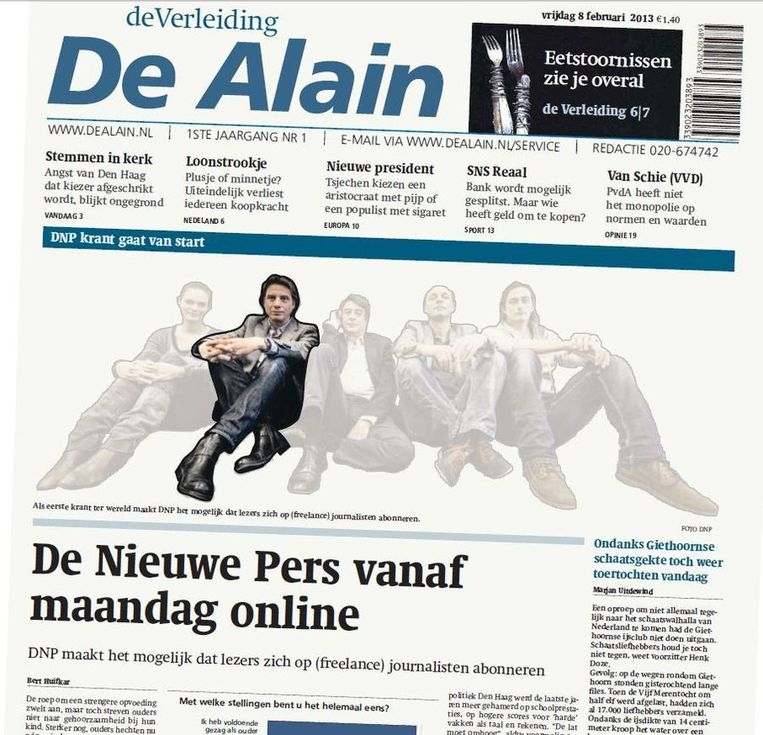 Wordt dit De Nieuwe Pers van Alain van der Horst, journalist voor De Nieuwe Pers? Beeld Trouw/Brechtje Rood