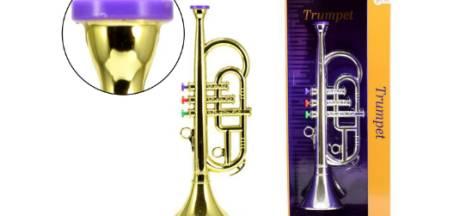 Speelgoedtrompet teruggeroepen wegens verstikkingsgevaar