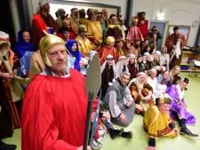 Generale repetitie voor het kerstwandeltheater