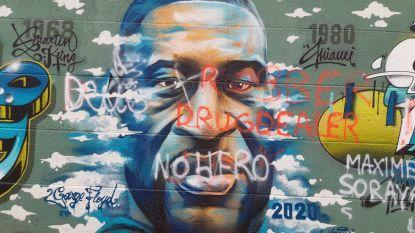Graffiti ter nagedachtenis van George Floyd beklad