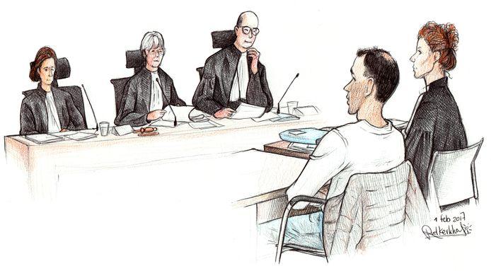 Gerrit ter H. in de rechtbank.