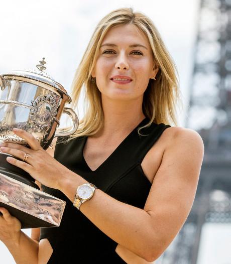 Maria Sjarapova (32) stopt per direct met tennissen