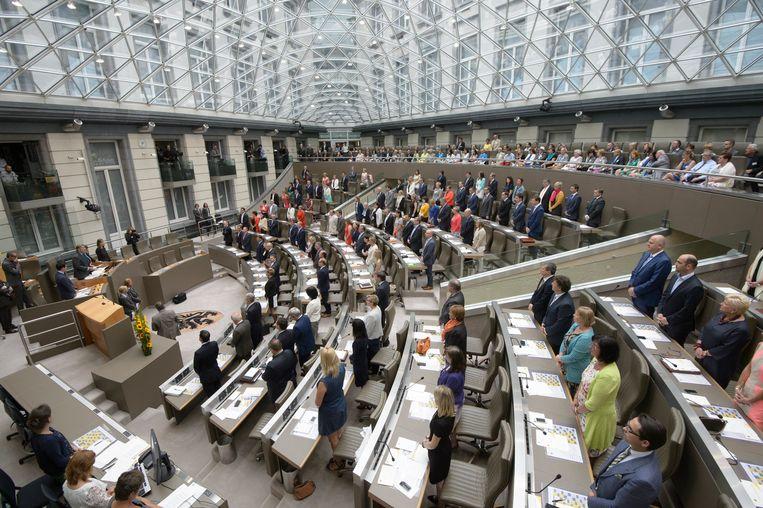 Het Vlaamse parlement in Brussel.