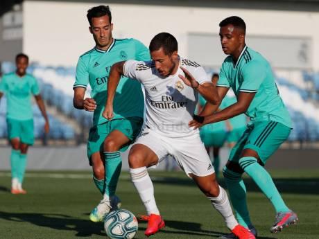 Eden Hazard effectue son retour lors d'un match d'entraînement avec le Real