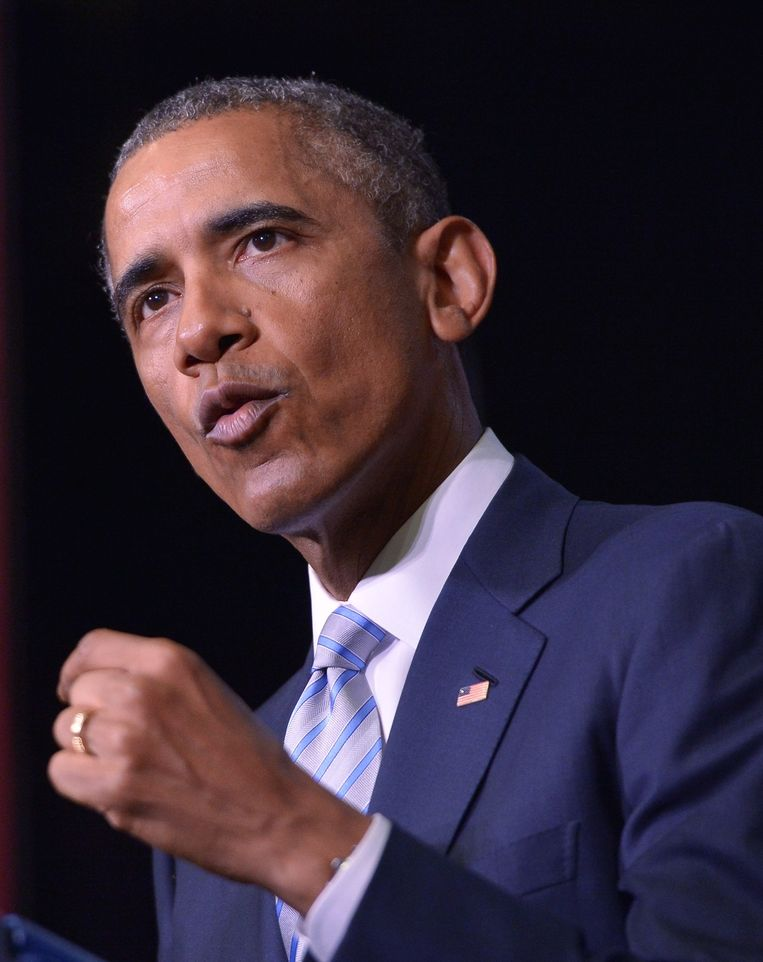 Obama: 'De VS staan naast jullie.' Beeld afp
