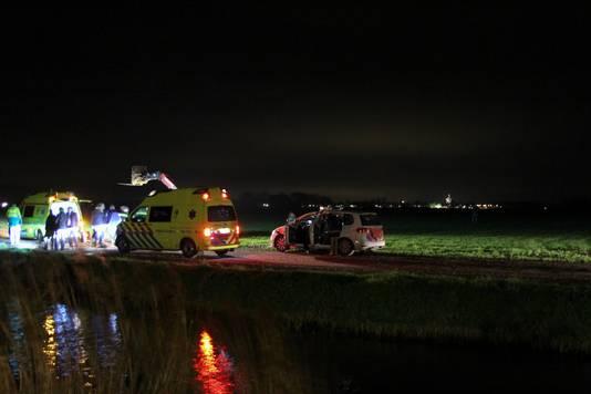 Aan de Achterwei in het Friese Morra is oudejaarsavond een persoon om het leven gekomen.