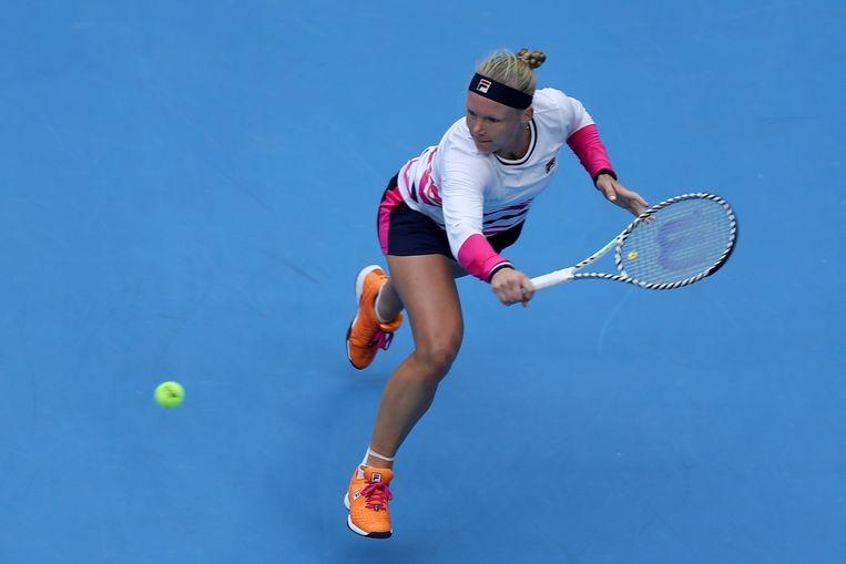 Kiki Bertens in actie tijdens China Open.  Beeld Getty Images