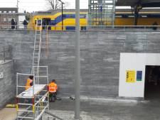 Gaas moet losse tegels bij station Bergen op Zoom tegen houden