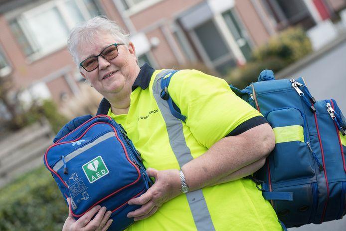 EHBO-vrijwilliger Mechelien Buis.