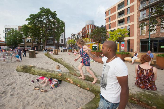 Het stadsstrand van Veenendaal in 2015.