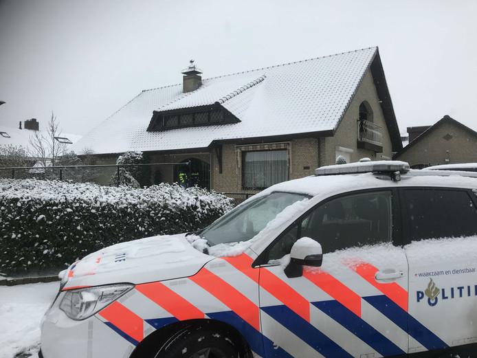 Het huis in St. Willebord waar de politie dinsdag onderzoek deed.