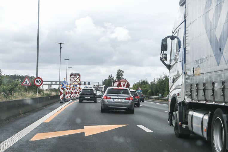 Aan de werken in Gentbrugge gebeurden al tientallen ongevallen.