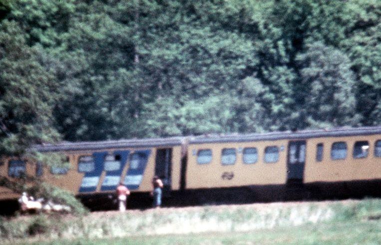 De gekaapte trein bij De Punt. Beeld anp